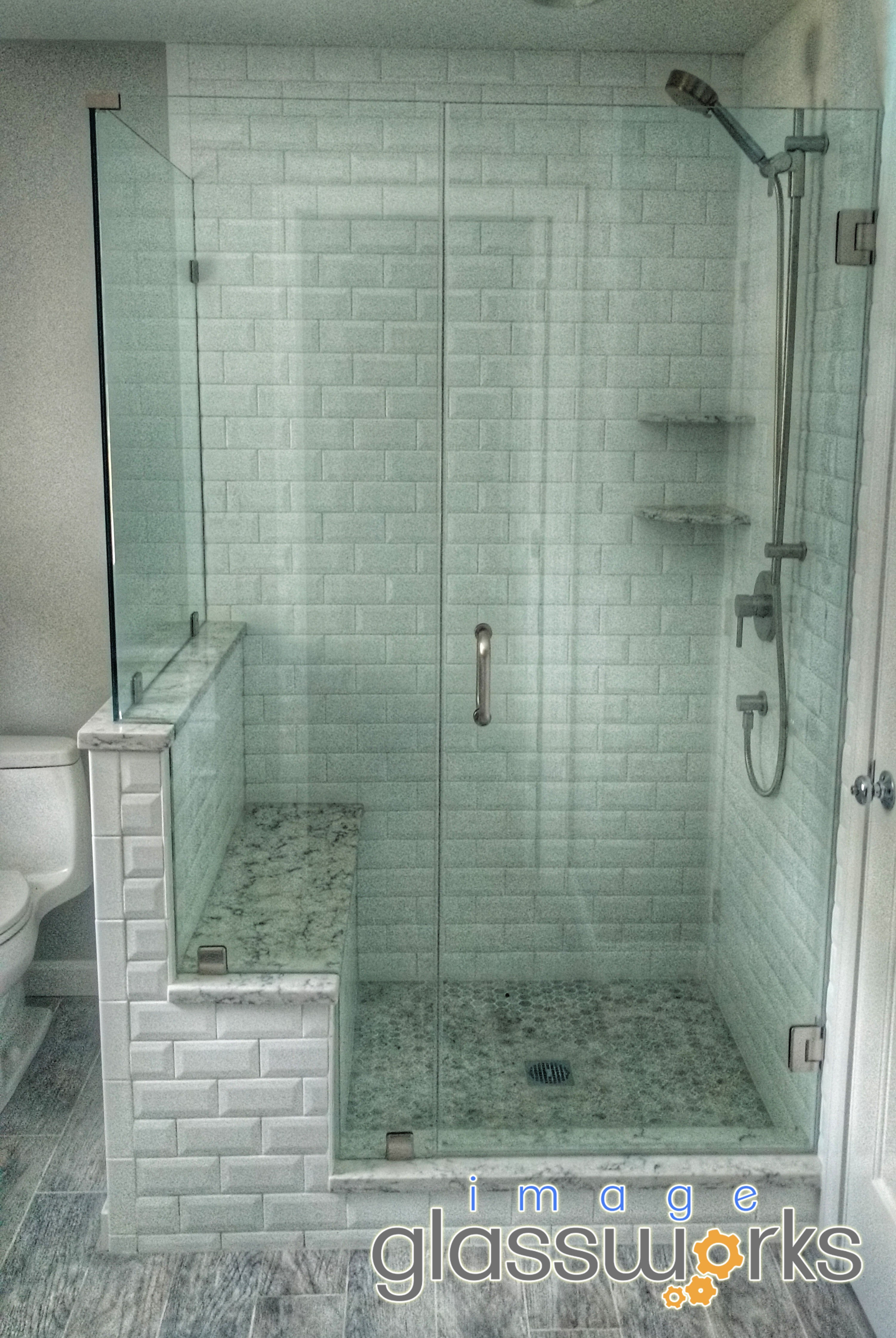 Frameless Shower With Perfect Double Notched Panel And