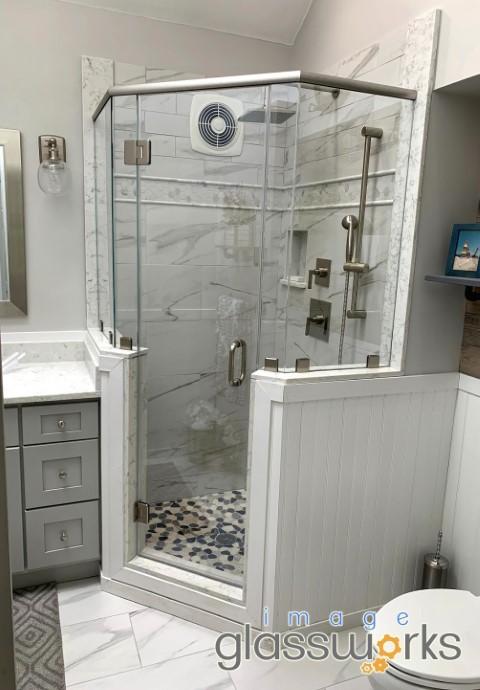 boxford frameless shower door neo-angle