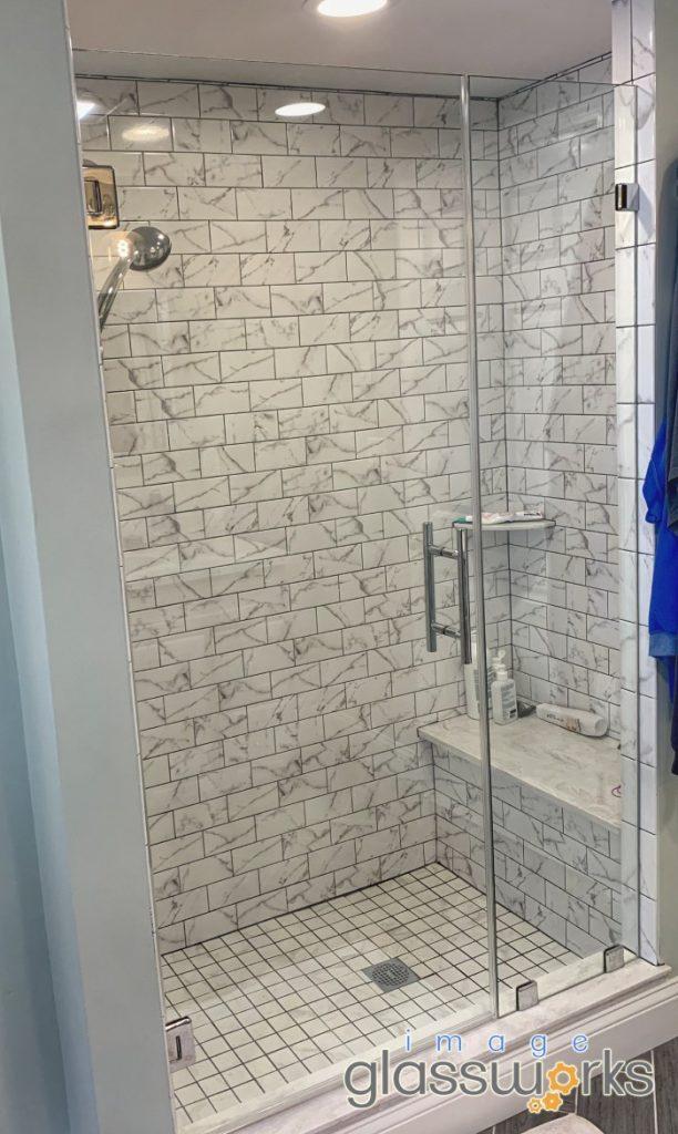 low iron door and panel shower door