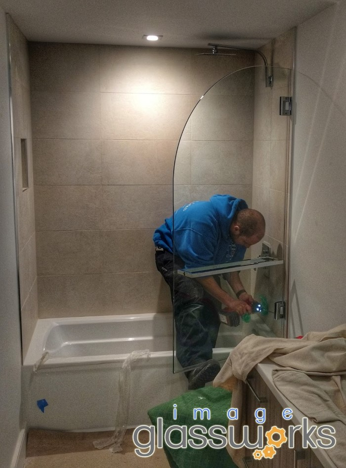 frameless shower installation procedure