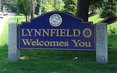 lynnfield ma welcome town sign