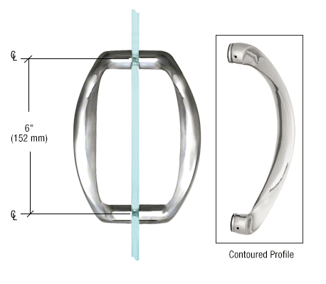 "CRL sculptured 6"" frameless handle pull"